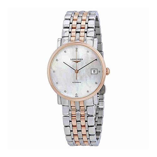 Automatic Mop Dial - Longines Elegant Collection - L4.809.5.87.7 - 18K Rose Gold MOP Diamond Dial Automatic Women's