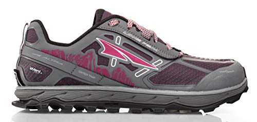 Altra Women's Lone Peak 4 Low RSM Waterproof Trail Running Shoe, Gray/Purple - 6 B(M) - Trail Waterproof Running Shoe