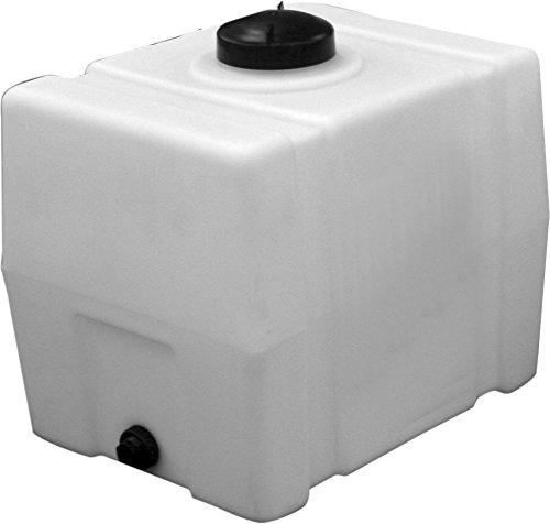 RomoTech Horizontal Square Polyethylene Reservoir, 50 Gallon (Plastic Tank)