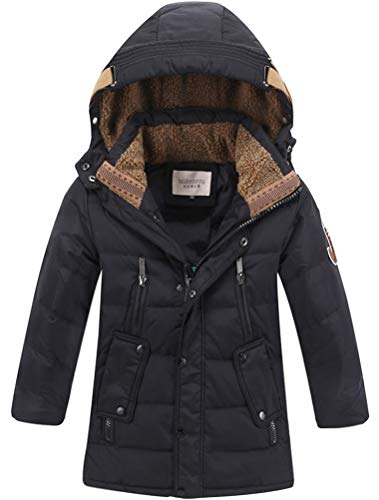 Odziezet Meisjes Jongens Puffer Down Coat Kids Warm Gewatteerde Parka Hooded Jacket Winter Outwear 4-13 Jaar