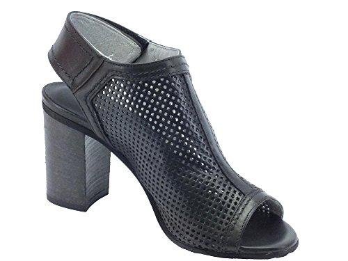 Nero Noir Sandales Giardini femme pour Nero P717781d Nepal nxtdIx0a