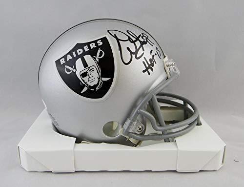 - Warren Sapp Autographed Oakland Raiders Mini Helmet W/HOF- JSA W Auth Front