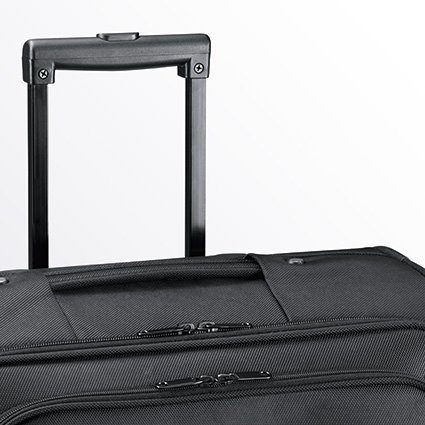 D & N Pilotentrolley Aktentrolley Business Trolley Bag Polyester 41x35x19cm Schwarz 2882 Bowatex