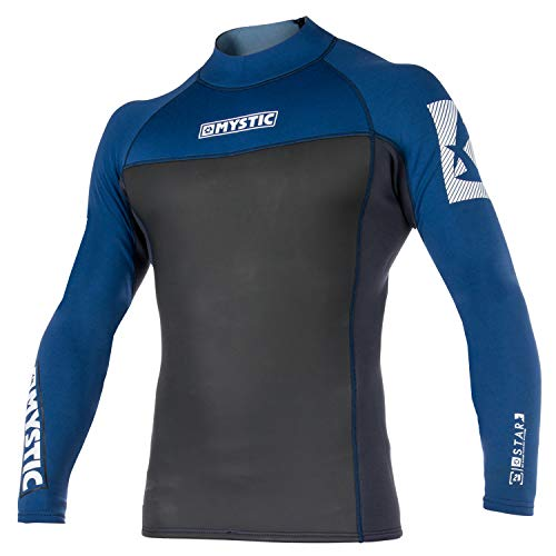 Mystic 2018 Star 2mm Neoprene Long Sleeve Top Navy 140255 Sizes- - Small