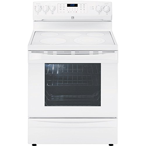 Kenmore Elite 95052 6.1 cu. ft. Electric Range in White, includes delivery and (Self Cleaning Warming Drawer Range)