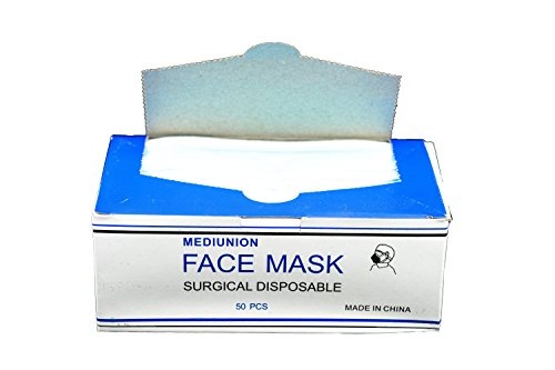 Medical Face Masks Ear Loop Surgical Dental Disposable 3 ply Manufactured by P&P Medical Surgical LLC (Funny Emergency Services Costumes)