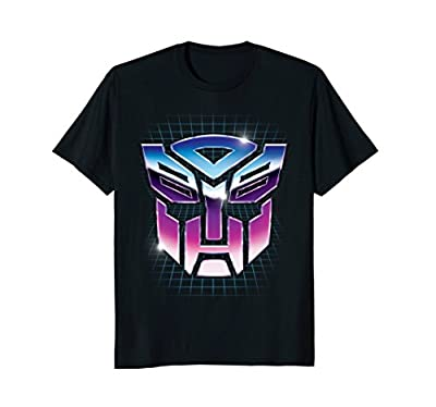 Transformers Robot Shield Retro Grid Design T-Shirt