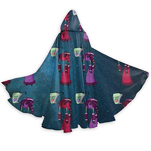 Alien-Zim Adults Halloween Cloak Hooded Mantle Role Playing Costume for Men ()