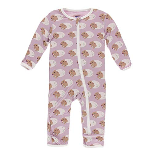 Kickee Pants Little Girls Print Coverall with Zipper - Sweet Pea Diictodon, 3T