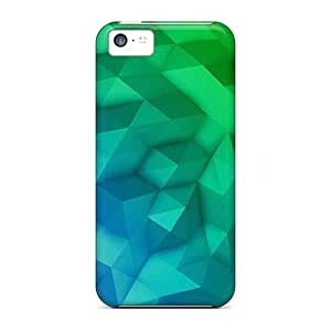LastMemory Design High Quality Blocked Green Cover Case With Excellent Style For Iphone 5c