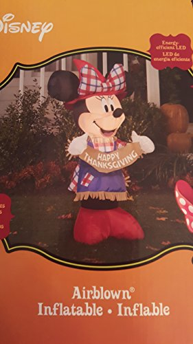 Gemmy Inflateables Holiday 70444 Air Blown Disney Minnie As Scarecrow Decor]()