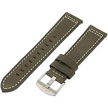 AVI-8 AV-STRAP22-L03 22mm Leather Calfskin Green Watch Strap