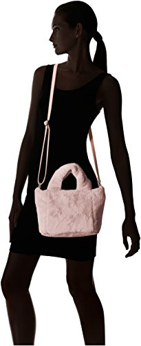 T Satchel Women's Plush Shirt Plush Satchel Faux Mini amp; Fur Blush Jeans Mini Fur Faux 4OZ4qrwgf