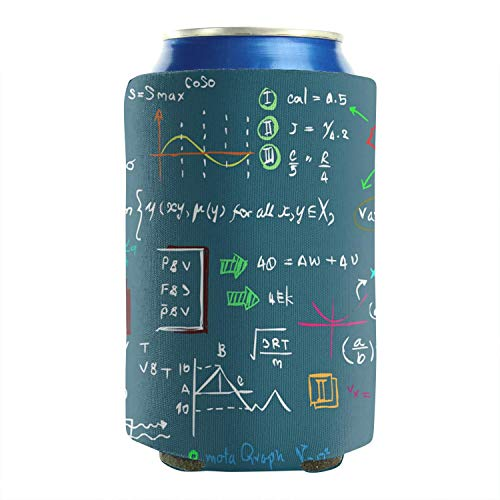 Set Of 2 Durable Collapsible Fully Stitched Insulated Bottles Holder Neoprene Beverage Coolers Fit 12 Oz Maths Physics Chemistry Green Backdrop Cold Drink Soda Water Beer Cans Cooler Covers]()