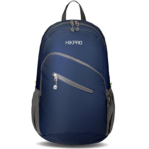 Hikpro Ultralight Packable Travel Backpack - Navy Blue, Large