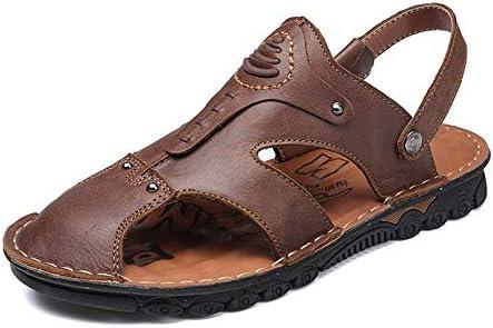 ファッションシューズ スタンダードシューズ 靴メンズファッションサンダルカジュアル夏新本革滑り止め兼用スリッパ レジャーシューズ