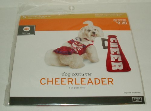Cheerleader Dog Pet Costume Size Small 5-15 Pounds Dress (Pet Costumes For Dogs Target)