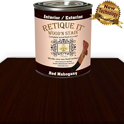 Wood'n Stain - Gel Stain with Liquid Wood by Retique It (16 oz (Pint), 93 Red Mahogany)