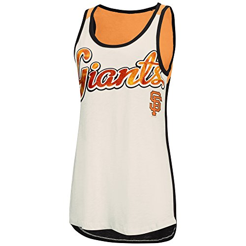MLB San Francisco Giants Women's Triple Play Tank Top, Medium, Vintage (San Francisco Giants Body)