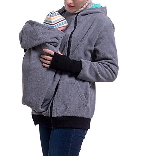 965a302d148db U2SKIIN Womens Maternity Fleece Hoodie 3 In 1 Kangaroo Pocket Carrier Baby  Holder