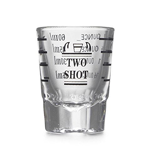 HAPPYNUTS Measuring Glass, TWO-SHOT Measuring Cup Shot Glass Measures 2 Ounces, 60mL