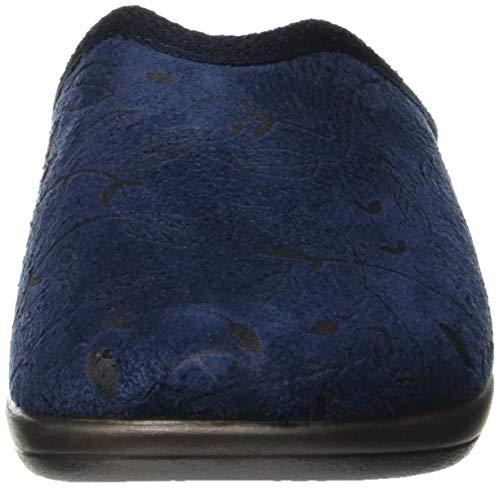 Bleu à Jula In Blu Chaussons Blu Ouvert 004 Femme Talon 77qfS