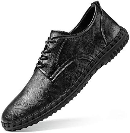 レースアップシューズ メンズ カジュアルシューズ ローカット 革靴 ウォーキング ワークブーツ 手作り 通勤用 防滑 ドライビングシューズビジネス デッキシューズ 大きなサイズ