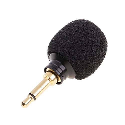 MagiDeal Professional Condenser Microphone, 3.5mm Mono/Standard Plug-in Mic Megaphones for PC Laptop Skype Recording with Windscreen Sponge Sleeve - Black, Mono 3.5mm Plug