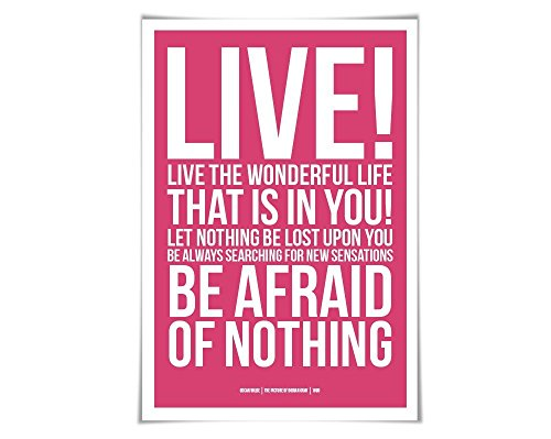 Live the Wonderful Life Oscar Wilde Quote Art Print. 60 Colo