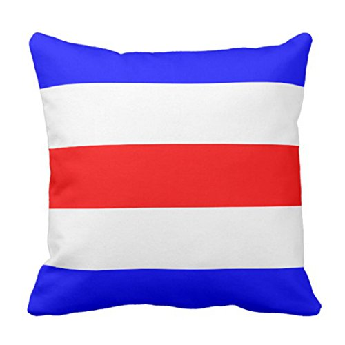 Emvency Throw Pillow Cover Nautical Flag Signal Letter C Decorative Pillow Case Home Decor Square 18 x 18 Inch Cushion Pillowcase - Nautical Code Flag Pillow