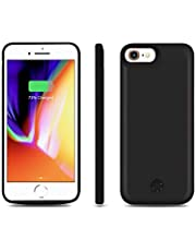 JLW Battery Case for Apple iPhone 8 / 7 / 6s / 6 Anti-Shock Backup Charger Power Bank Cover with 5000 mAh - Black