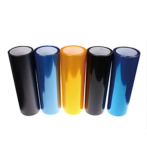 SanguineSunny Sunny 12 Color All Car Tail Head Light Fog Lamp Tint Roll Vinyl Film Sheet Sticker