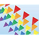 127 Feet 100 Pieces Multicolor Pennant Banner Flags - HYHP Colorful Flag Pennants for Party Decoration