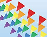 131 Feet 100 Pieces Multicolor Pennant Banner Flags - HYHP Colorful Flag Pennants