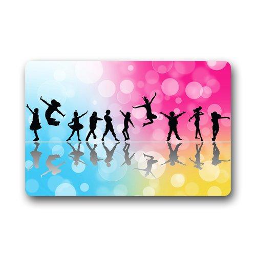 Dance Art Custom Doormats Rug Non Slip Mats Indoor/Outdoor/Bathroom/Decor Area Rug(23.6x15.7 inch)