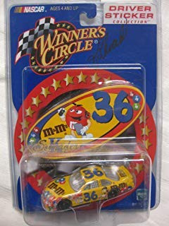 SIGNED#36 2000 Ken Schrader Winner's Circle Yellow Car Driver Sticker Collection W/ Free Collector's Case