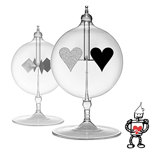 Radiometer Solar Spinning Tin-Man Heart - Powered by The Sun (Free Robot Valentine's Card Included) (Tin Gift Anniversary)