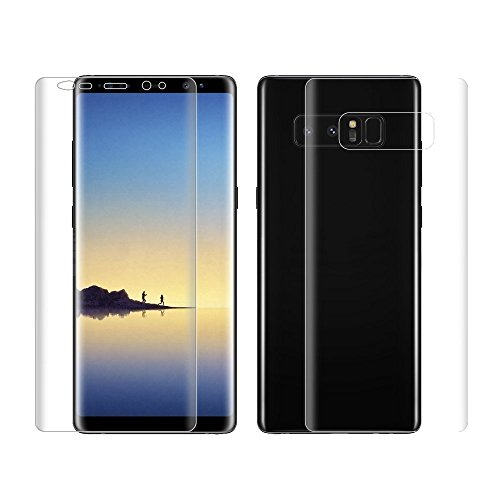 Samsung Galaxy Note 8 Screen Protector, Edge-to-Edge Front & Back TPU Film, Military Grade Technology [Case Friendly] Super Slim Anti-Scratch Waterproof 3D Silicon Screen Protector for Samsung Note (Back Screen Protector Guard)