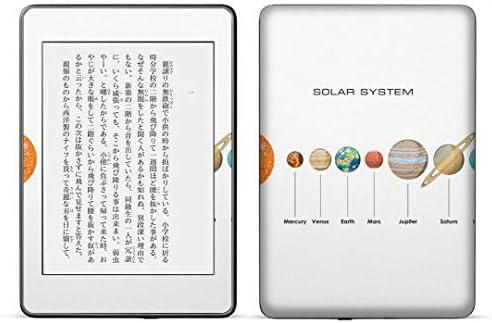 igsticker kindle paperwhite 第4世代 専用スキンシール キンドル ペーパーホワイト タブレット 電子書籍 裏表2枚セット カバー 保護 フィルム ステッカー 015931 太陽系 宇宙 惑星
