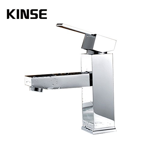 Chrome Maifeini The Contemporary Chrome Sinks Faucets Deck Mount Point On The Mixer Bathroom Sink Faucet Hot And Cold Control Faucet, Chrome Plated