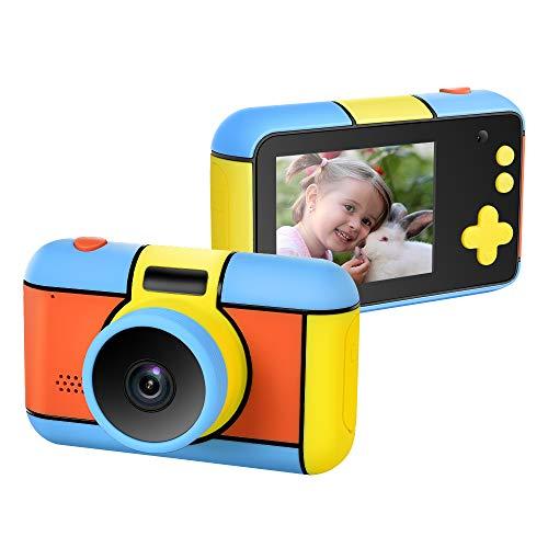 ElecRat Kids Digital Camera 2.4 Inch IPS HD Screen Anti-Drop Childrens Camera Camcorder with 1080P Intelligent Optical Sensor Lens & 2400W Pixel Dual Lens& LED Flash(No Included SD Card)