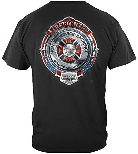 Firefighter Accessories | Fire Honor Service Sacrifice Chrome Shirt ADD132-FF2101L ()