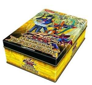 YuGiOh 5Ds 2010 Duelist Pack Exclusive Collection Tin (Yellow Tin with Starlight Road , Drill Synchron, Speed Warrior & Advance - Pack Duelist Tin Collection