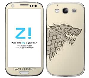 Zing Revolution Game of Thrones Premium Vinyl Adhesive Skin for Samsung Galaxy S 3, Stark S2 Image (MS-GOT130415)