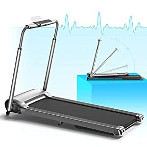 WEKEEP Portable Foldable Treadmill for Home with Bluetooth LED Display Running Machine with Phone Holder Small Treadmill for Small Space