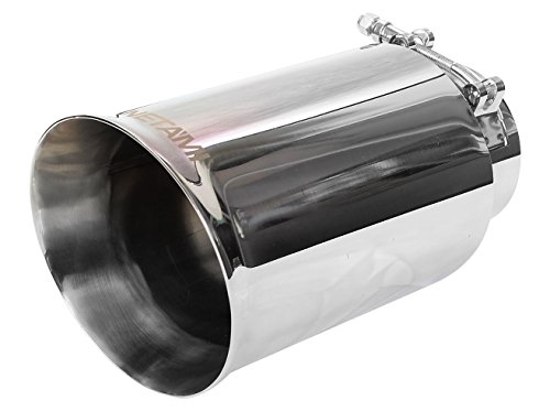 NETAMI NT-2445 Premium Quality Mirror Polished Double Wall T304 Stainless Steel Exhaust Tip Clamp-on Inlet 3