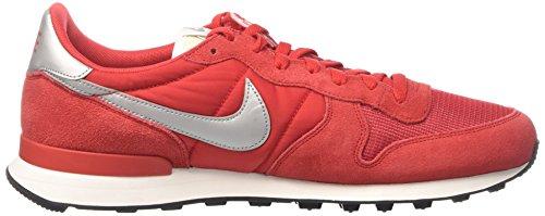 Nike Internationalist, Zapatos para Correr para Hombre Rojo (University Metallic Silver)