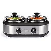 TRU S-2125 Dual Crock Buffet Slow Cooker