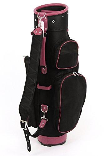 ツェラーゴルフ キャディバッグ 8.5インチ対応 ton-8ziegenleder-932 ブラック×ピンク ヤギ革の商品画像