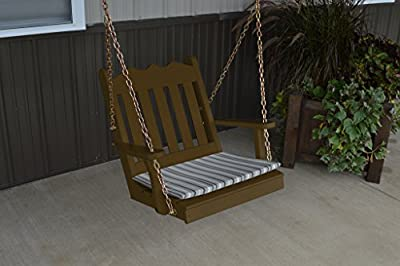 2 Ft Pine Outdoor Royal English Chair Swing Amish Made USA- Coffee Paint